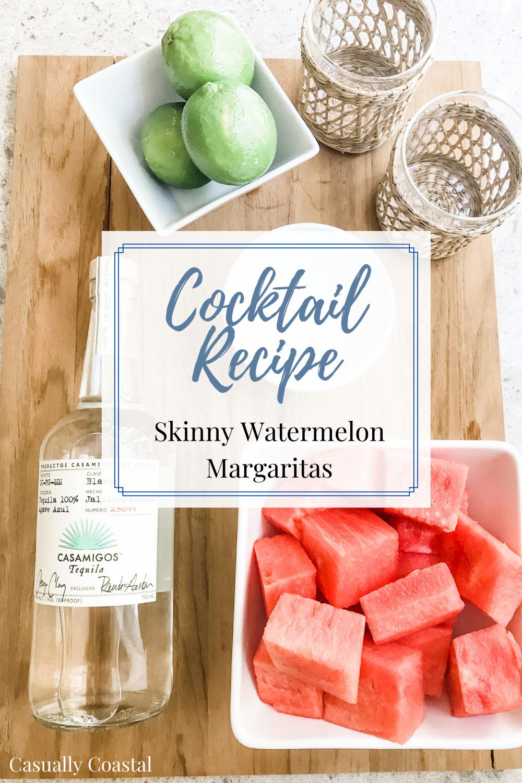 Cocktail Recipe: Skinny Watermelon Margaritas