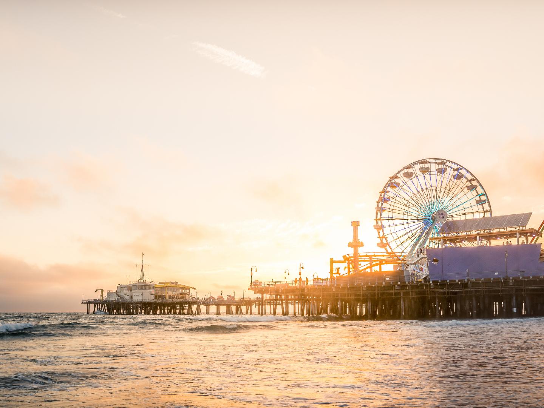 Gorgeous sunset at the Santa Monica Pier