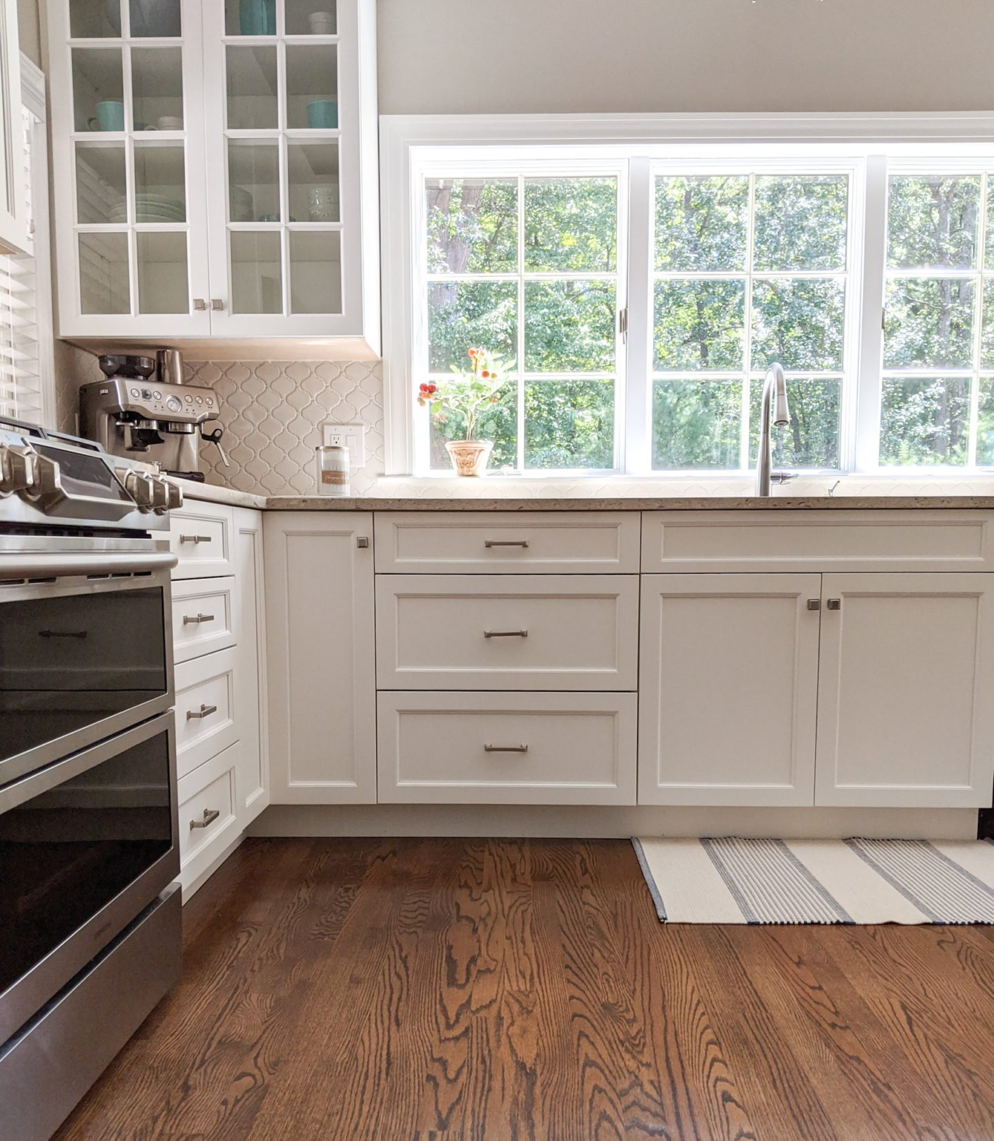 """""""After"""" - refinishing our hardwood floors instantly brought our home into the correct decade!"""