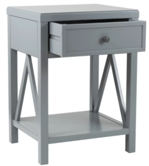 Nadeau Solid Wood End Table with Storage