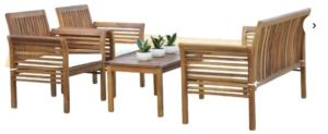 Glynn 4 Piece Sofa Seating Group with Cushions