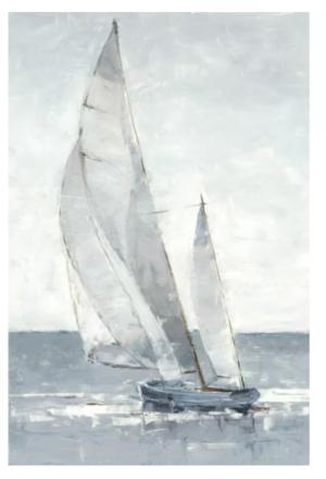 'Gray Seas I' Painting on Canvas