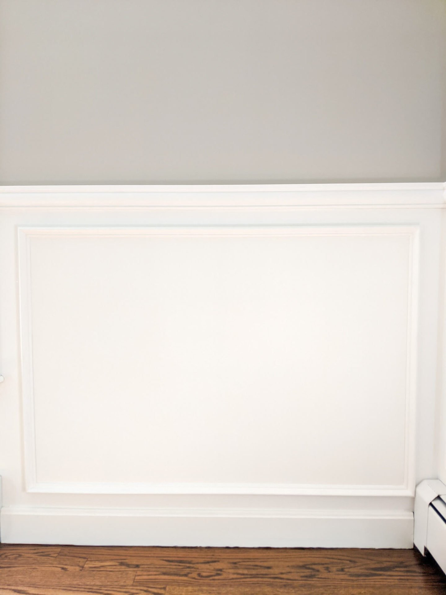 Wall molding, added as part of our coastal dining room updates.