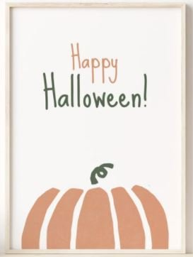 Happy Halloween Printable Wall Art