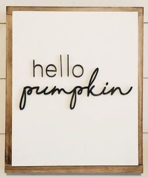 Hello Pumpkin Fall Decor Fall Sign
