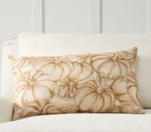 Pumpkin Sketch Lumbar Pillow Cover