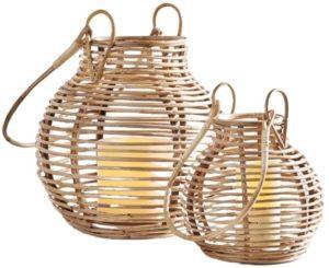 Riley Handcrafted Rattan Lanterns