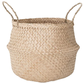 Sona Home Seagrass Basket with Handles