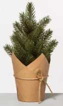 Faux Pine Tree with Craft Paper Planter
