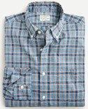 Slim Untucked stretch Secret Wash cotton poplin shirt in plaid