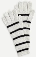 Ribbed gloves in supersoft yarn
