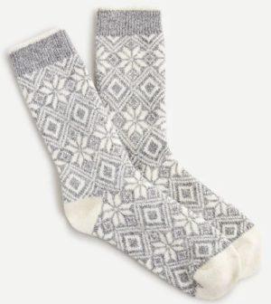 Trouser socks in snowflake Fair Isle