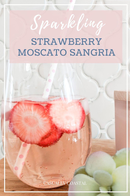 Sparkling Strawberry Moscato Sangria Recipe