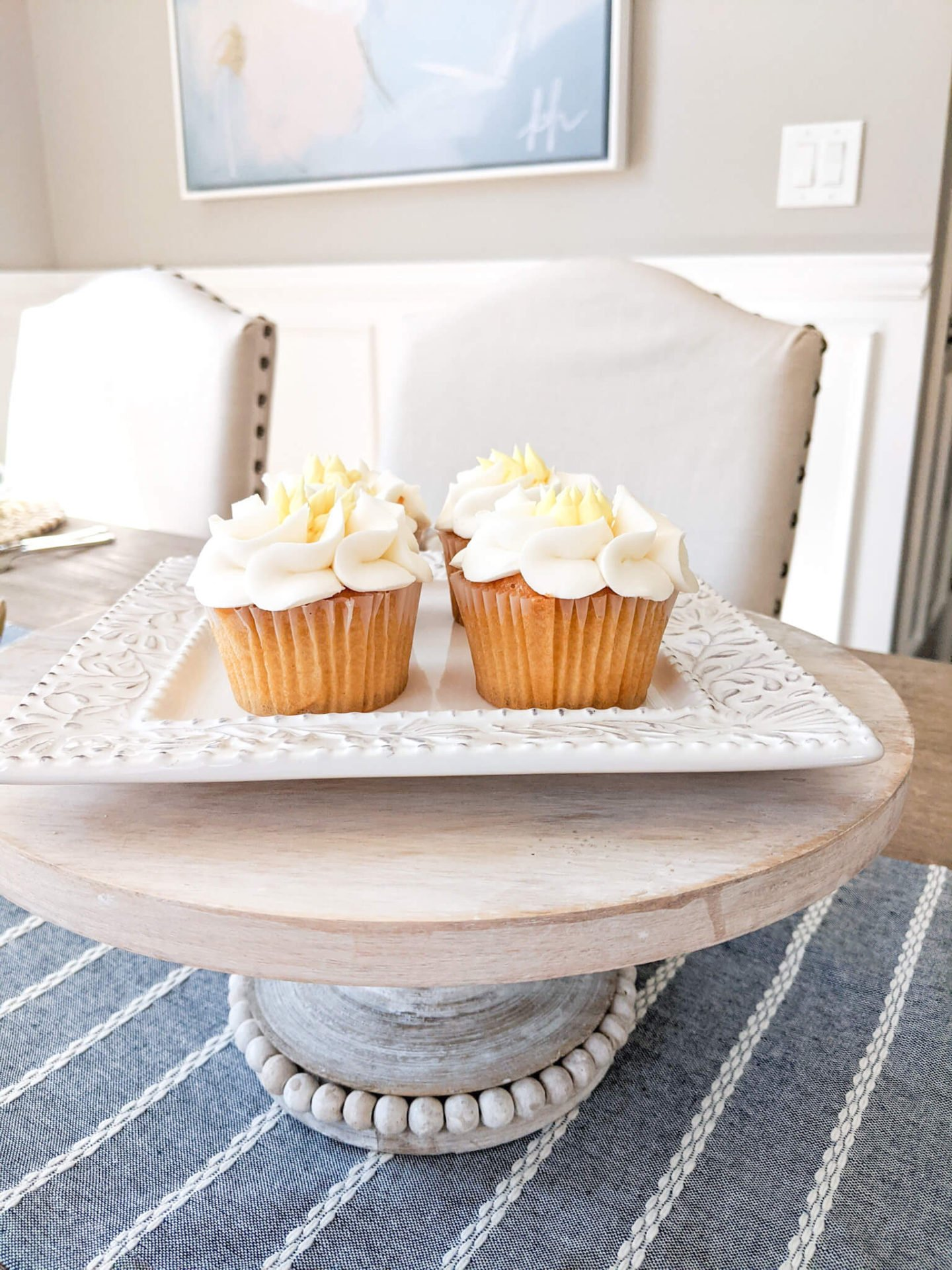 A cake stand is great for adding height on your tablescape
