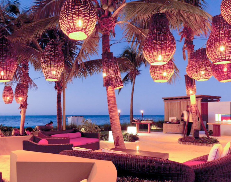The gorgeous lanterns at Infiniti Restaurant & Raw Bar!