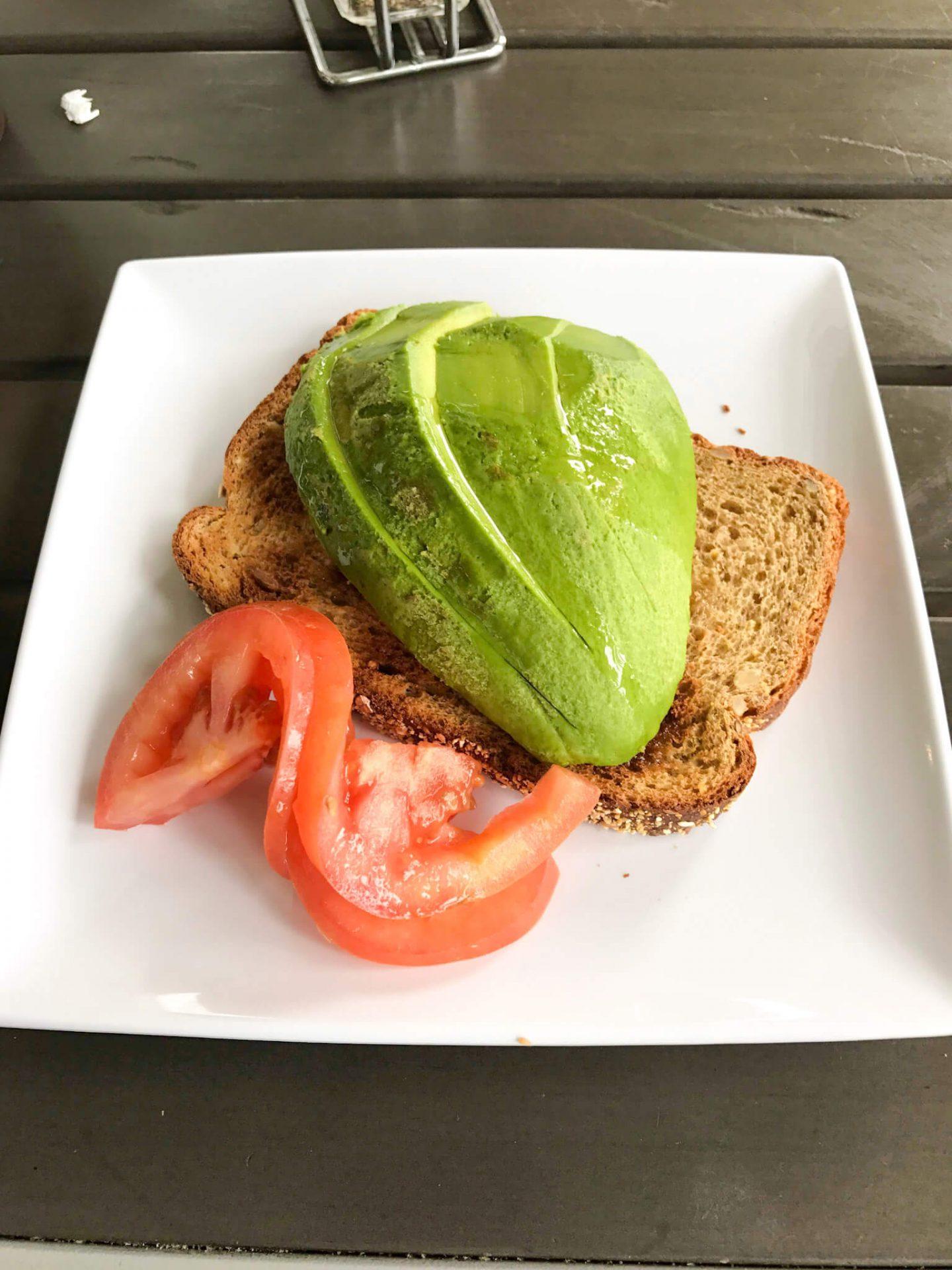 My avocado toast at Shay Cafe