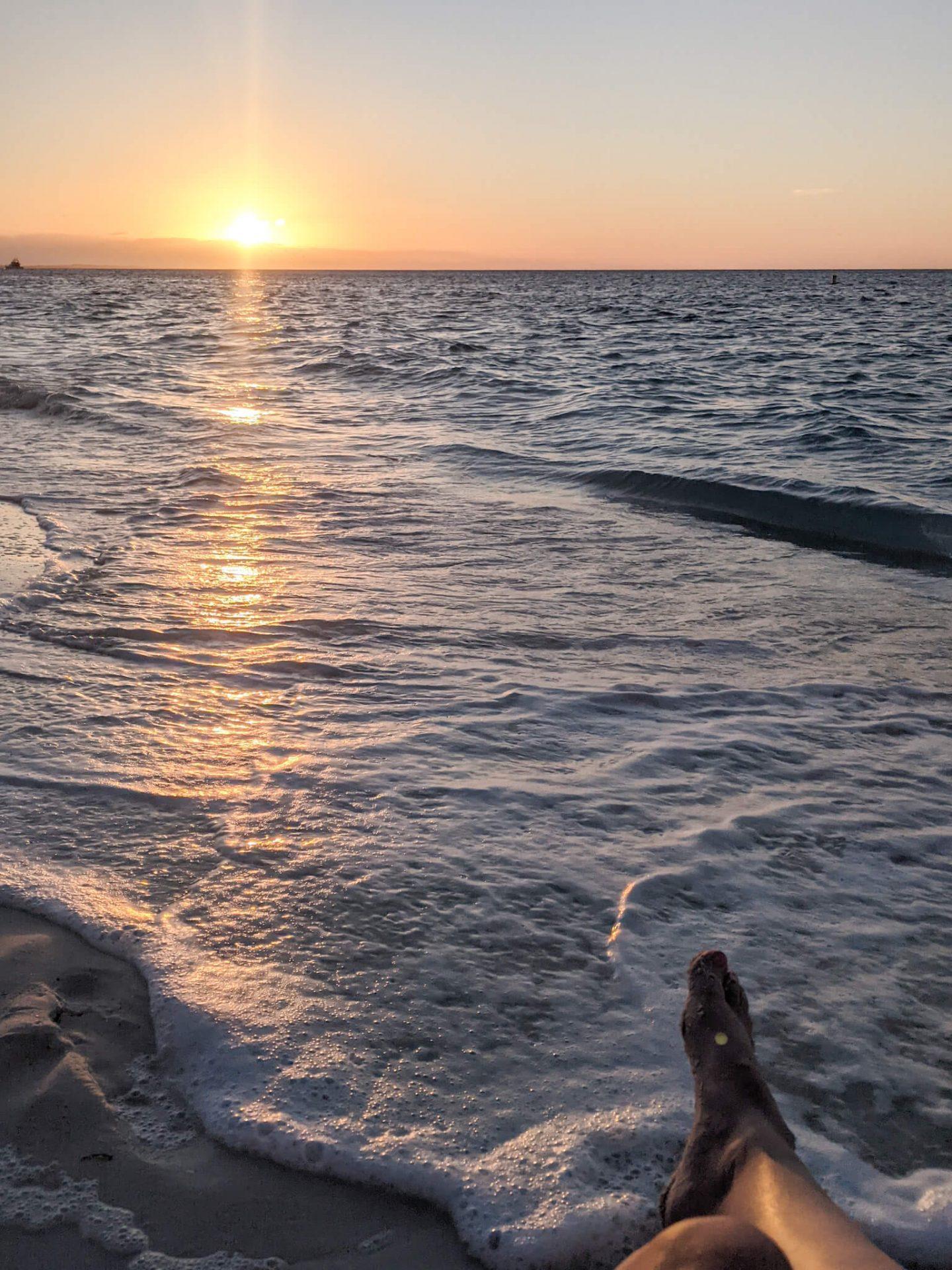 Sunset over Grace Bay Beach