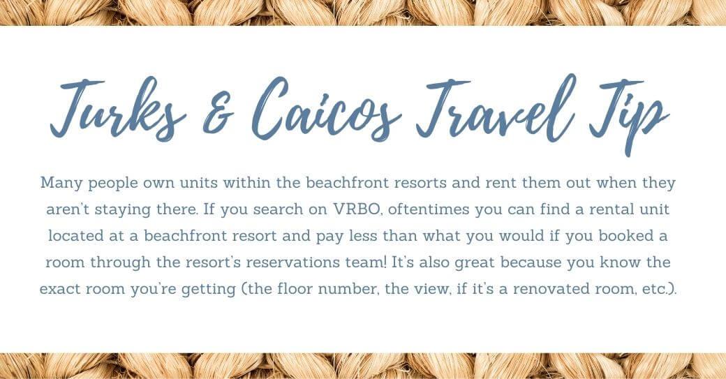 Turks & Caicos Travel Tip