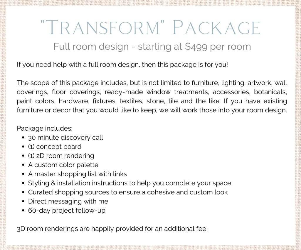 Transform Virtual Design Package